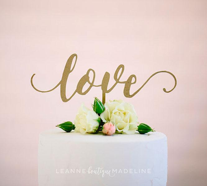 Written Wedding Cake Toppers