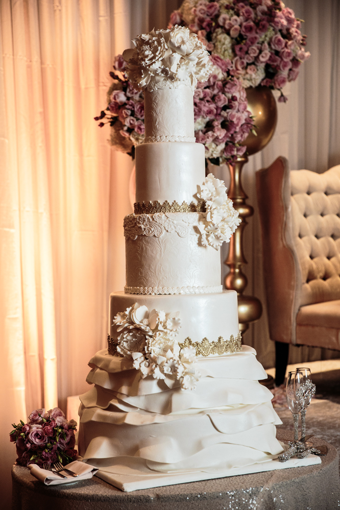 Ishtar and Lawrence's Wedding Cake