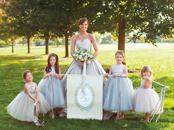 Flower girl monograms