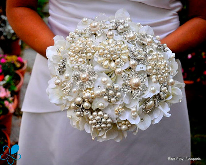 Jeweled Bridal Bouquet