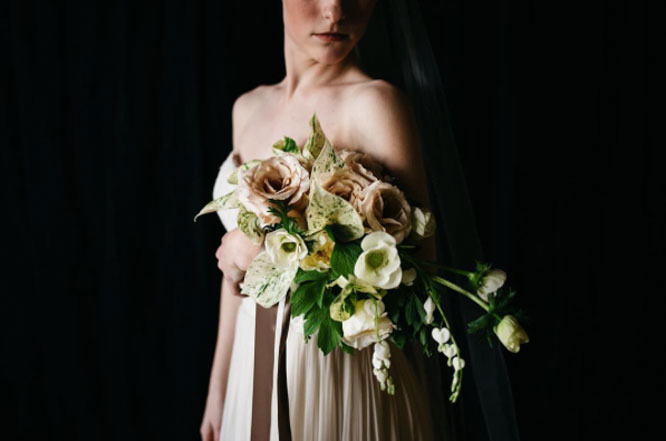 arm sheaf bridal bouquet