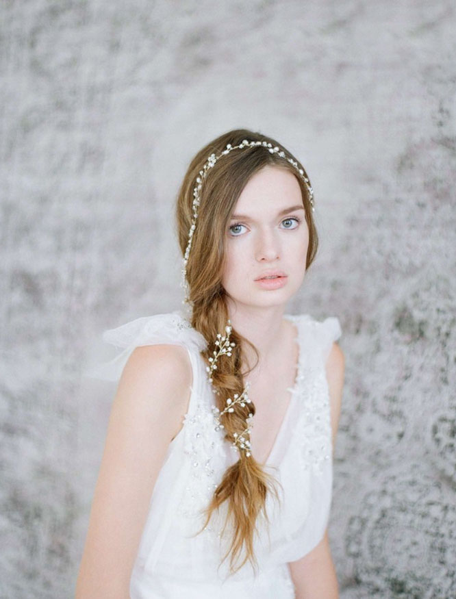 Braid in headpiece