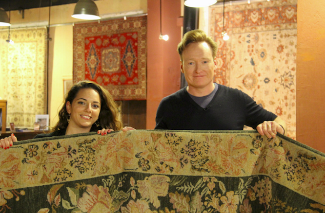 Conan in Armenia Buying Armenian Rug with Sona