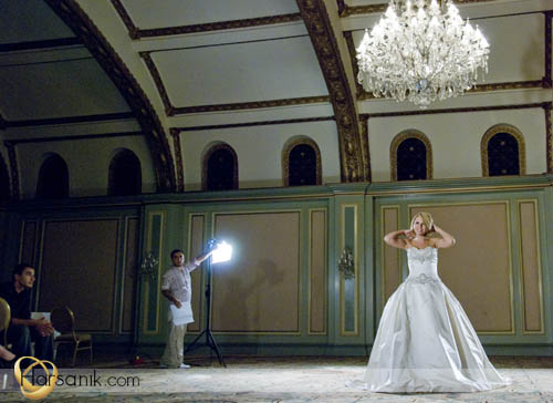 Bridal Show Commercial Filming
