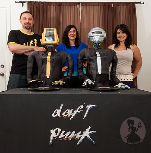 Daft Punk Tribute Cake